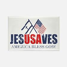 Jesus Saves Rectangle Magnet