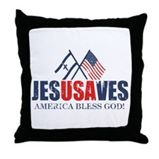Jesus Saves Throw Pillow