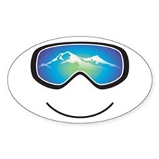 Happy Skier/Boarder Decal