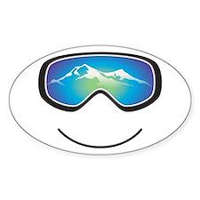 Happy Skier/Boarder Stickers