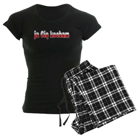 ja cie kocham - I Love You Women's Dark Pajamas