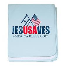Jesus Saves baby blanket