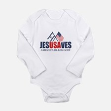 Jesus Saves Long Sleeve Infant Bodysuit