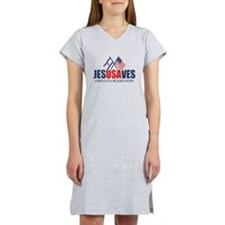 Jesus Saves Women's Nightshirt