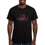 Jesus Saves Men's Fitted T-Shirt (dark)