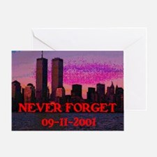 NEVER FORGET 09-11-2001 Greeting Card