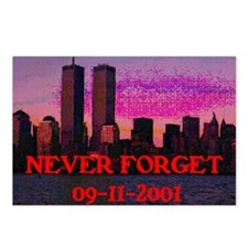 NEVER FORGET 09-11-2001 Postcards (Package of 8)