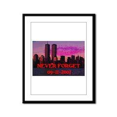 NEVER FORGET 09-11-2001 Framed Panel Print