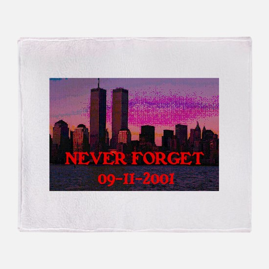 NEVER FORGET 09-11-2001 Throw Blanket