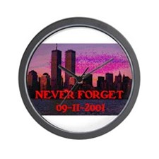 NEVER FORGET 09-11-2001 Wall Clock
