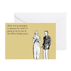 Office Holiday Party Greeting Cards (Pk of 20)