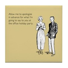Office Holiday Party Tile Coaster
