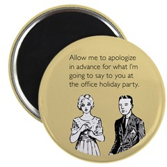 Office Holiday Party Magnet