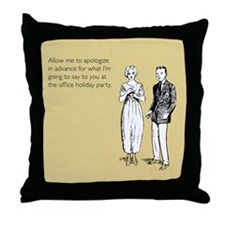 Office Holiday Party Throw Pillow