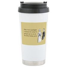 Office Holiday Party Stainless Steel Travel Mug