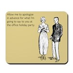 Office Holiday Party Mousepad
