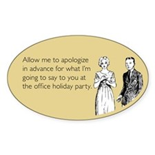 Office Holiday Party Sticker (Oval)