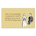 Office Holiday Party Sticker (Rectangle)