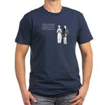 Office Holiday Party Men's Fitted T-Shirt (dark)