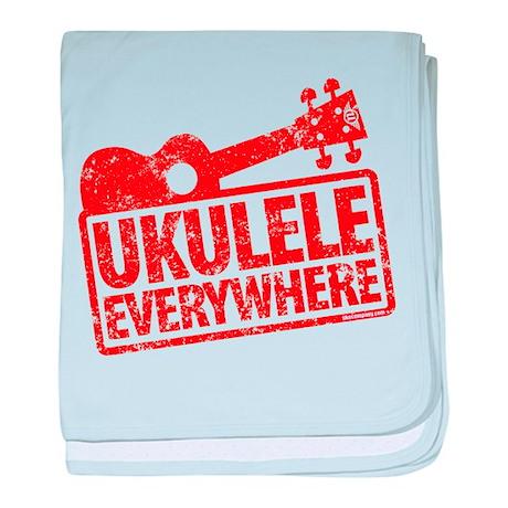 Ukulele Everywhere baby blanket
