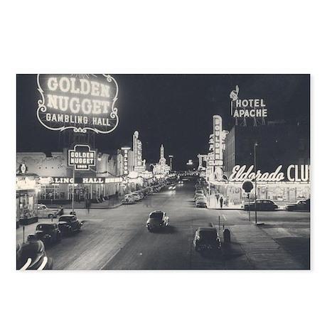Vintage Downtown Las Vegas Postcards (Package of 8
