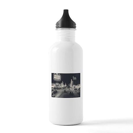 Vintage Downtown Las Vegas Stainless Water Bottle