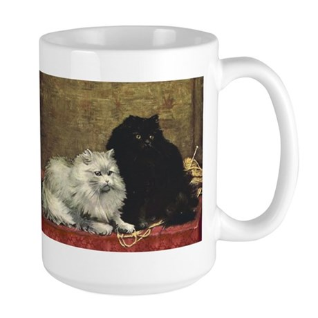 Black and White Persians Large Mug