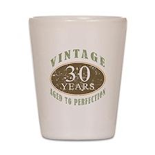 Vintage 30th Birthday Shot Glass