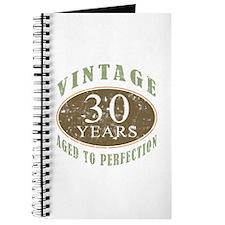 Vintage 30th Birthday Journal