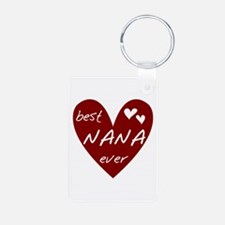 Heart Best Nana Ever Keychains