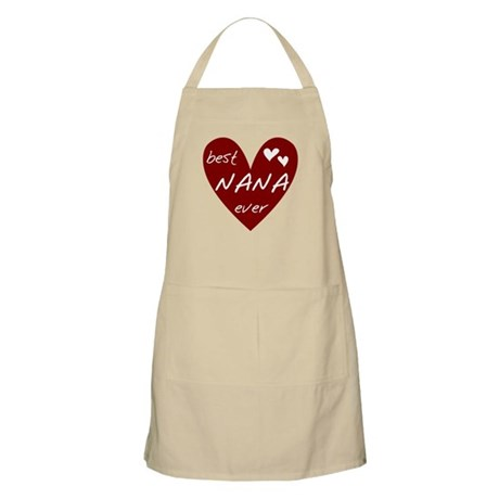 Heart Best Nana Ever Apron