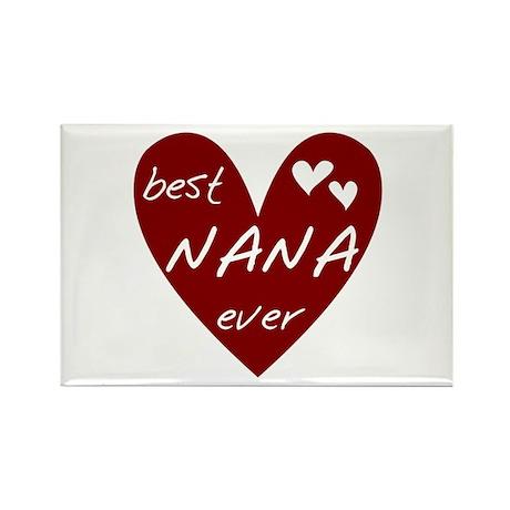 Heart Best Nana Ever Rectangle Magnet (10 pack)