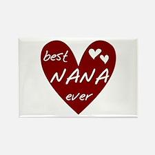Heart Best Nana Ever Rectangle Magnet (100 pack)