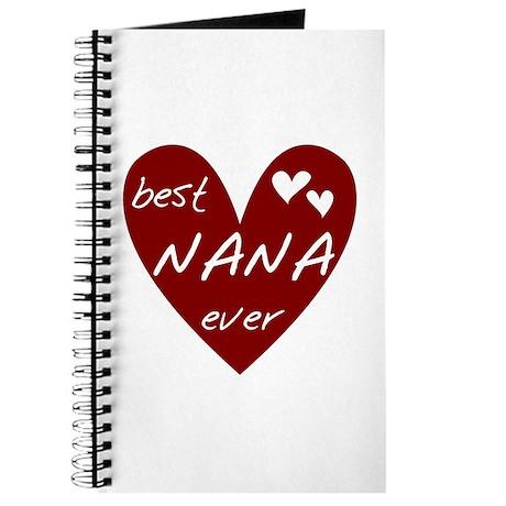 Heart Best Nana Ever Journal