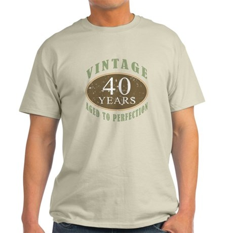 Vintage 40th Birthday Light T-Shirt