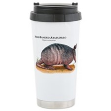 Nine-Banded Armadillo Travel Coffee Mug
