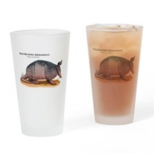 Nine-Banded Armadillo Drinking Glass