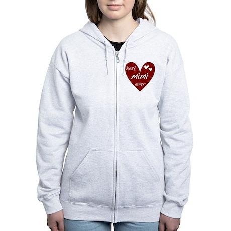 Heart Best Mimi Ever Women's Zip Hoodie