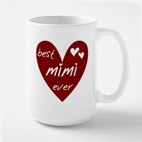 Heart Best Mimi Ever Large Mug