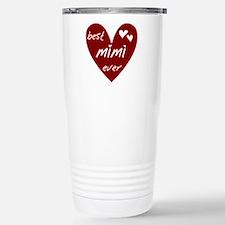 Heart Best Mimi Ever Travel Mug