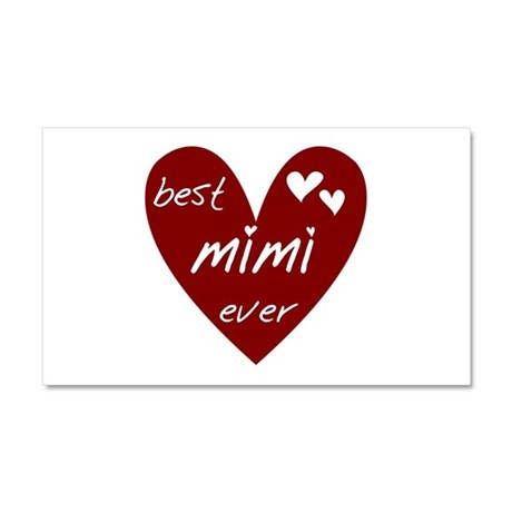 Heart Best Mimi Ever Car Magnet 20 x 12