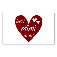 Heart Best Mimi Ever Decal