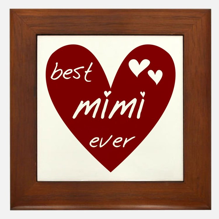 Heart Best Mimi Ever Framed Tile