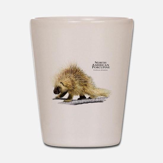 North American Porcupine Shot Glass