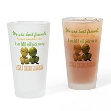 Best Friends Drinking Glass