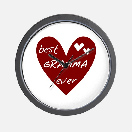 Heart Best Gramma Ever Wall Clock
