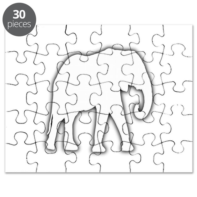 White Elephant Gift Christmas Gag Joke Puzzle by