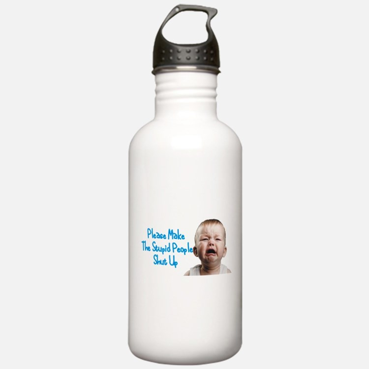 Tell people to shut up Water Bottle
