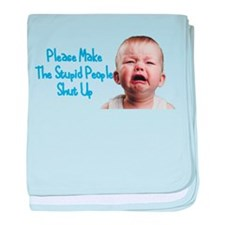 Tell people to shut up baby blanket