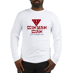 Minyan man Jewish Long Sleeve T-Shirt